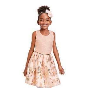10/12- Sleeveless Tutu Pleated Dress Rose